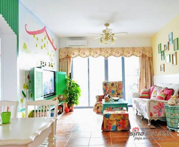 简约 二居 客厅图片来自佰辰生活装饰在13万装85平色彩斑斓童话家23的分享
