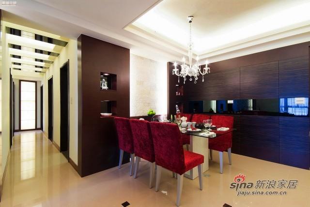 欧式 四居 餐厅图片来自幸福空间在148平米新式古典风骚红装91的分享