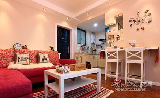 田园 二居 客厅图片来自装修微日记在新婚夫妻打造60平浪漫婚房35的分享