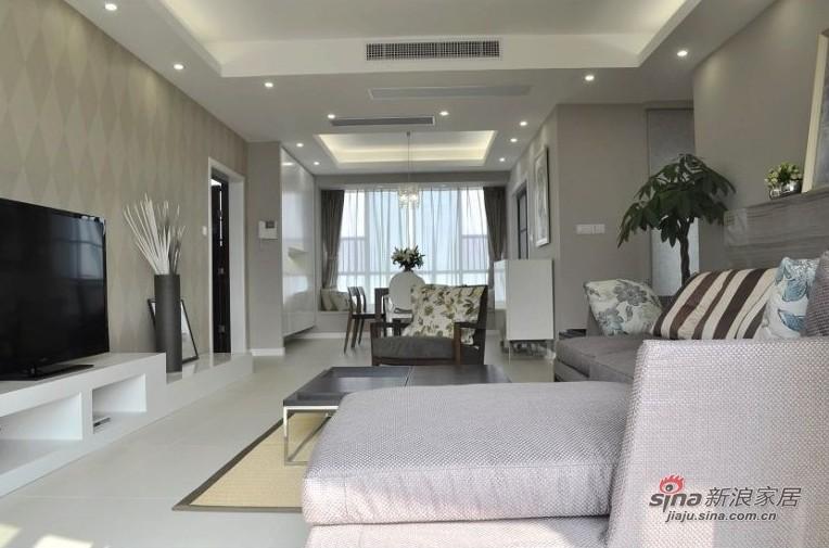 简约 三居 客厅图片来自用户2737735823在网友晒8万装清新素静的小家95的分享