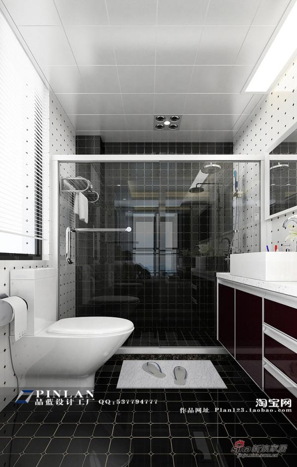 黑色主卫淋浴房设计