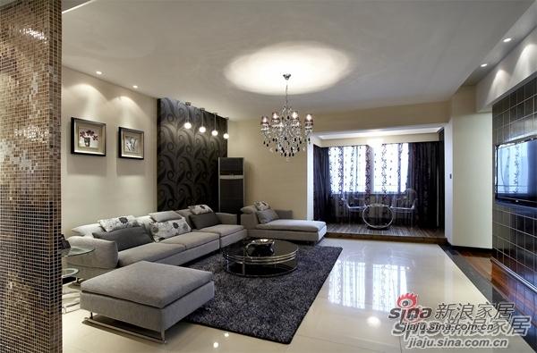 现代 三居 客厅图片来自用户2765170907在125㎡后现代简约风格向往新生活85的分享