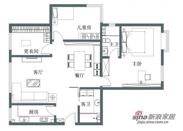 田园 三居 客厅图片来自用户2737791853在独享100平简欧仅需6.5万19的分享