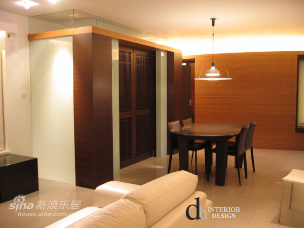 餐厅背景 竹木地板