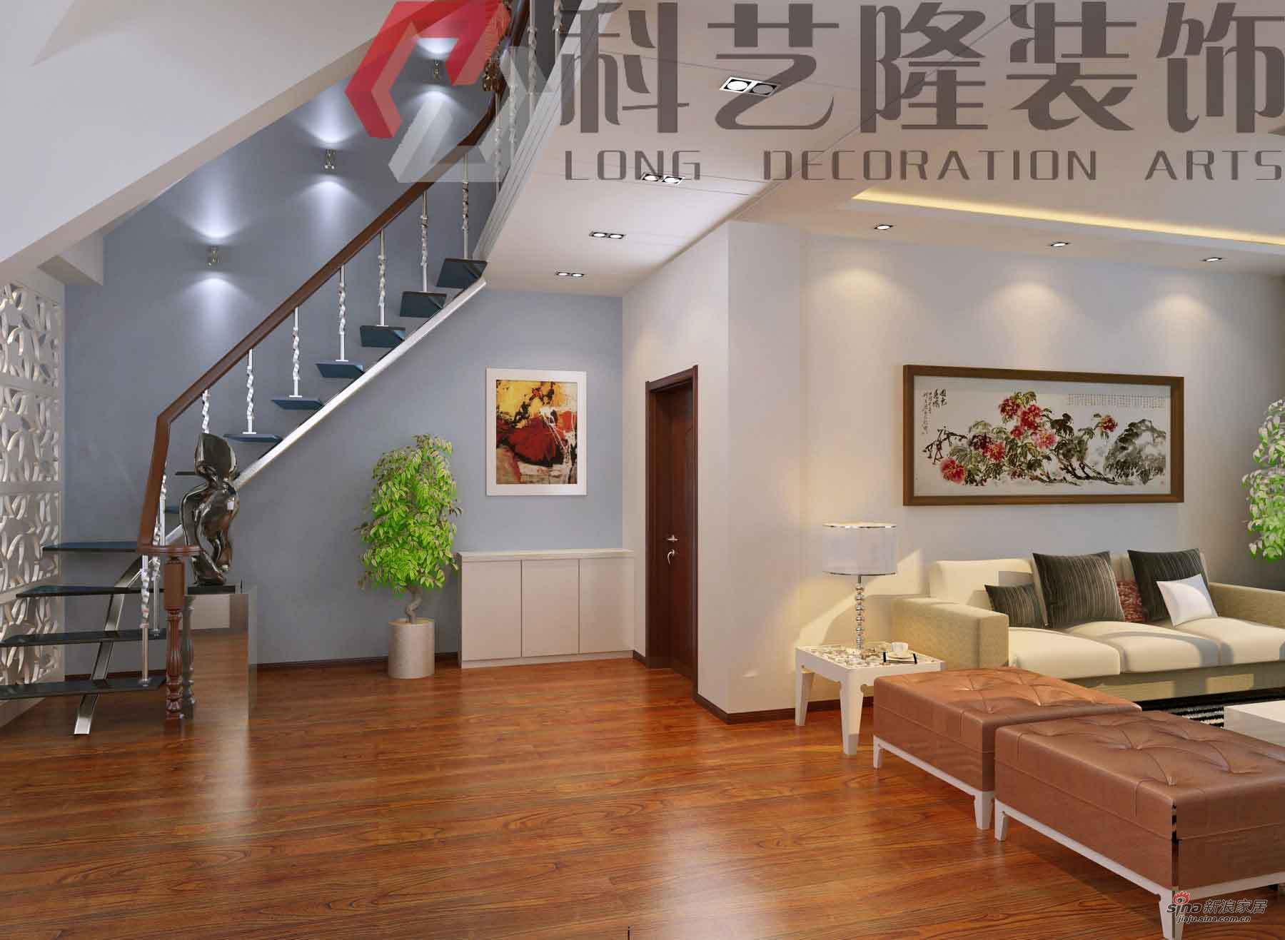简约 跃层 楼梯图片来自用户2738829145在12万装142平开放简约阁楼36的分享