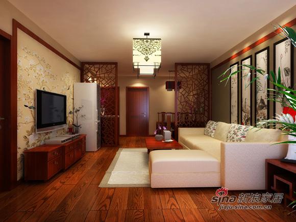 中式 二居 客厅图片来自用户1907658205在5.4万打造80平新中式风情53的分享