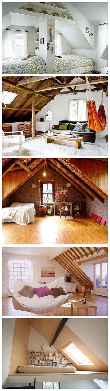 超酷的阁楼卧室设计
