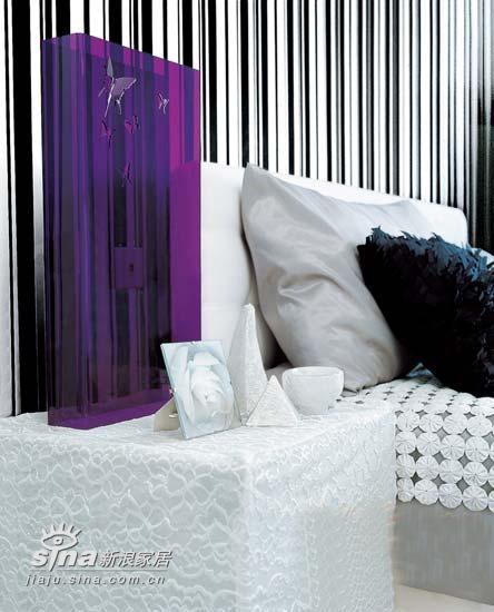 黑白条纹+紫色大件家居用品