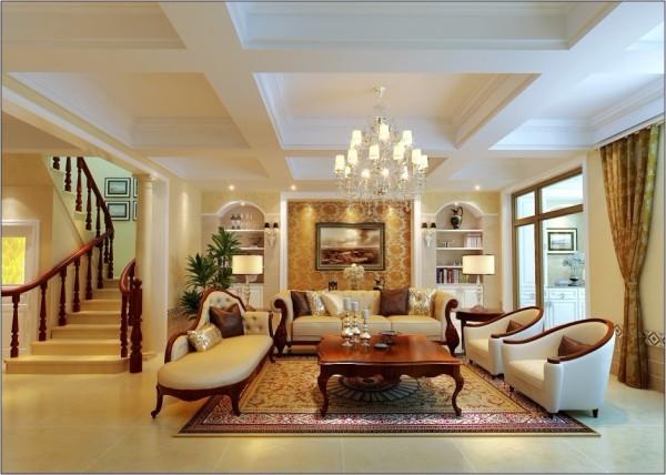 欧式 别墅 客厅图片来自用户2772856065在30万打造华丽欧式风格温泉别