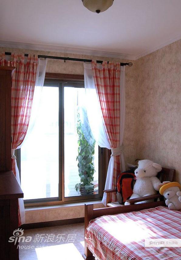 欧式 别墅 卧室图片来自用户2746889121在田园风格美式乡村别墅实景照片66的分享