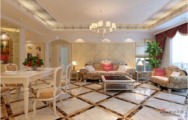 客厅沙发简欧风格设计效果图