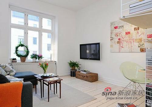 北欧 一居 客厅图片来自用户1903515612在爱侣5W装修40平北欧风94的分享
