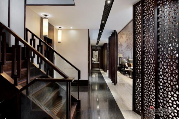 中式 别墅 楼梯图片来自用户1907659705在【高清】东方禅意——方直君御企业会所85的分享