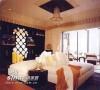 卧室:上世纪20年代的海边度假帐篷。恋母情节设计:超长毛绒织品装饰的坐卧两用长椅