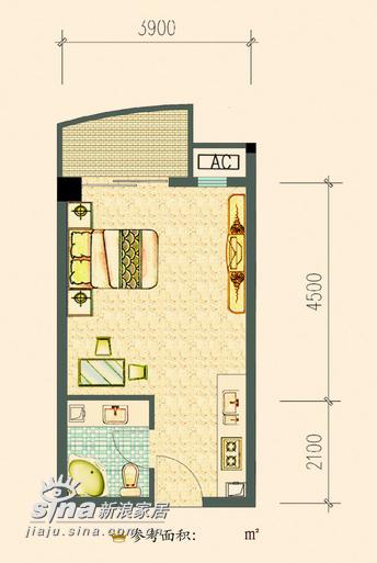 简约 一居 户型图图片来自用户2738093703在水星楼143的分享
