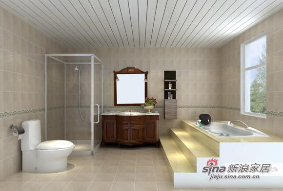 巧妙的淋浴区设计将干湿区域分割开来