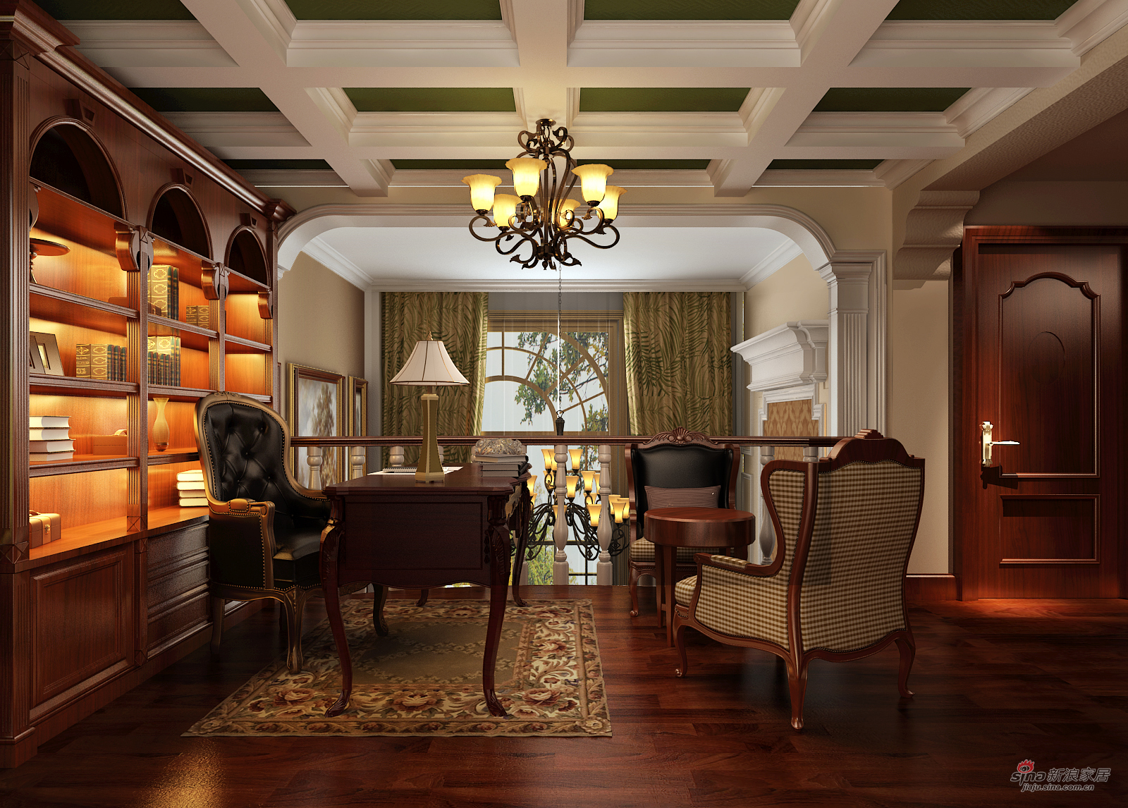 美式 三居 书房图片来自用户1907686233在北京华贸城29的分享