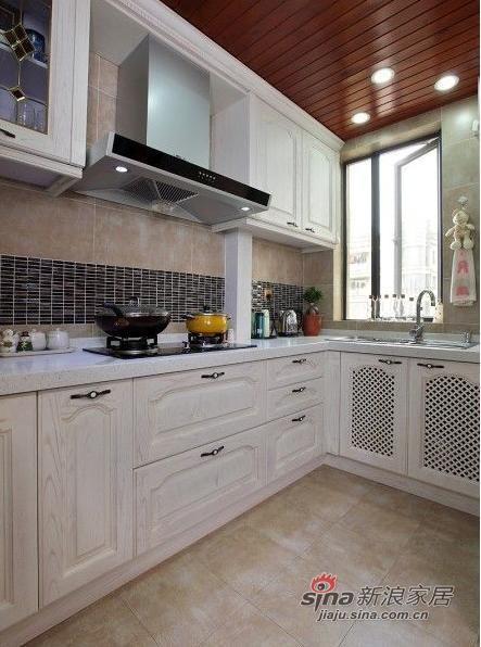 厨房,讲解大方的白色为主