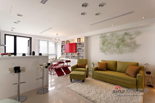 简约 二居 客厅图片来自用户2738820801在98平米温馨简约风格阳光美居63的分享