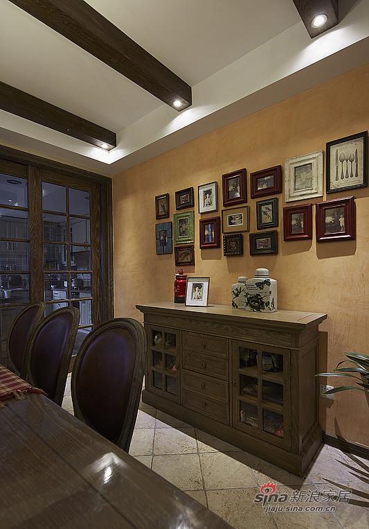 简约 复式 餐厅图片来自装修微日记在【高清】夫妻190平复古情调复式空间48的分享