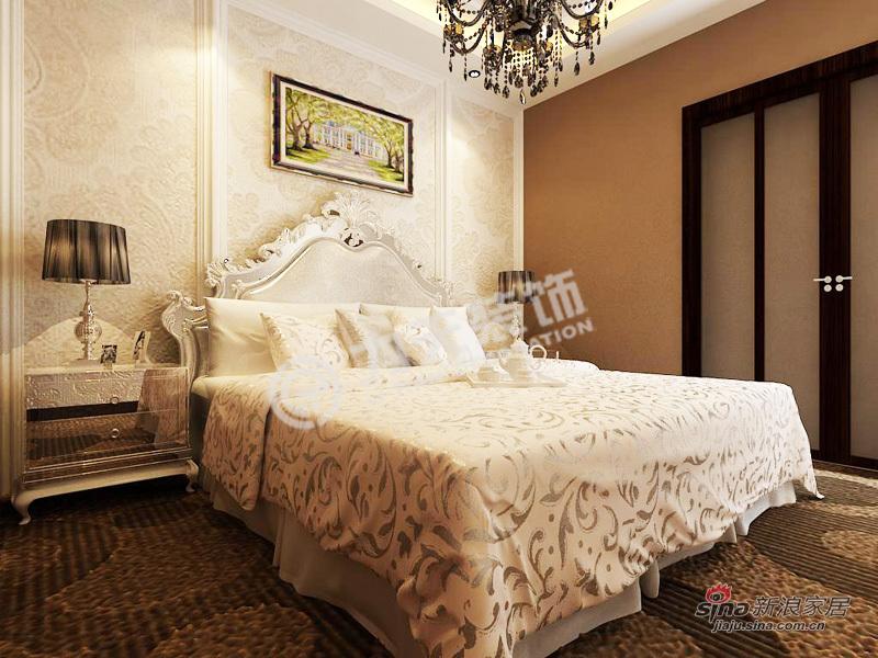 欧式 一居 卧室图片来自阳光力天装饰在上榀坐-1室2厅1卫1厨-欧式风格82的分享