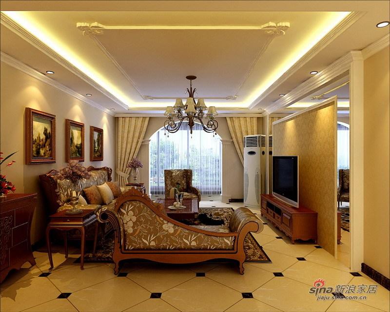 欧式 三居 客厅图片来自用户2745758987在120平古典欧式风格旧房改造29的分享