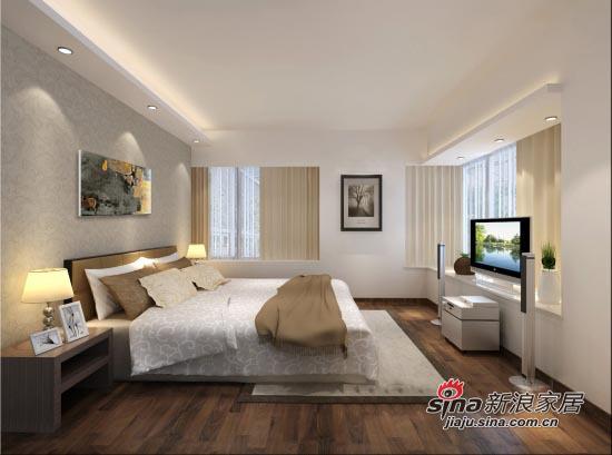 简约 三居 卧室图片来自用户2738813661在6.8万铸造时尚118平大气3居27的分享