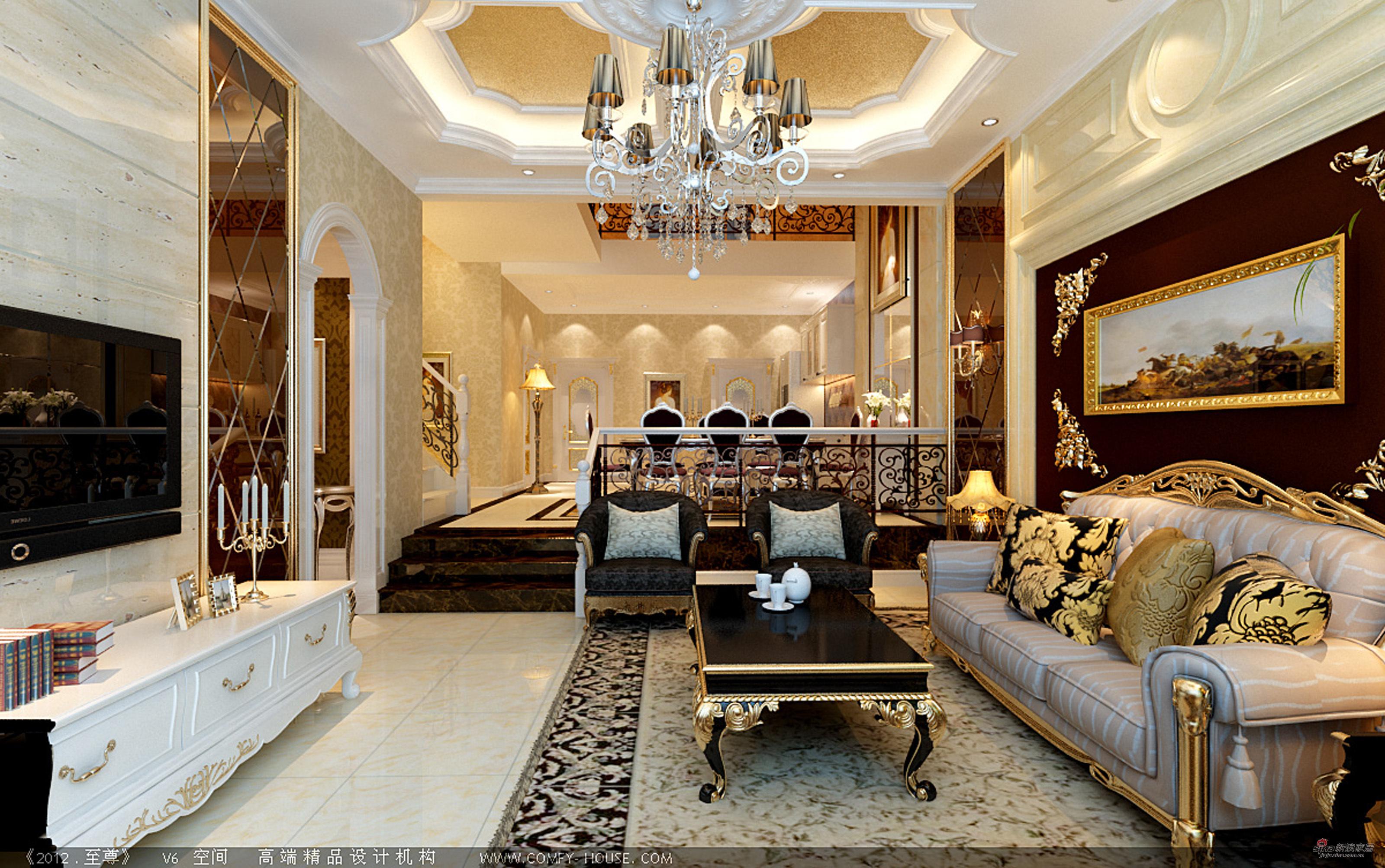 欧式别墅别墅用户来自图片2746953981在【高清】豪装300平客厅欧式大连市别墅区图片