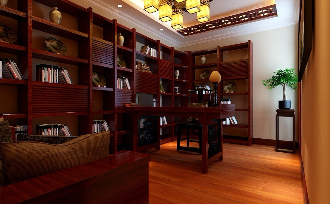 欧式 三居 书房图片来自用户2746889121在140平米华丽欧式3居室82的分享