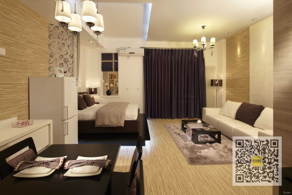 西山国际城现代简约一居室