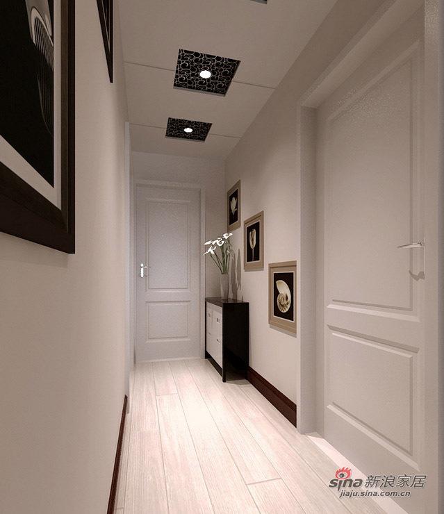 简约 二居 玄关图片来自用户2559456651在5.3万打造时尚90平黑白基调简约婚房74的分享