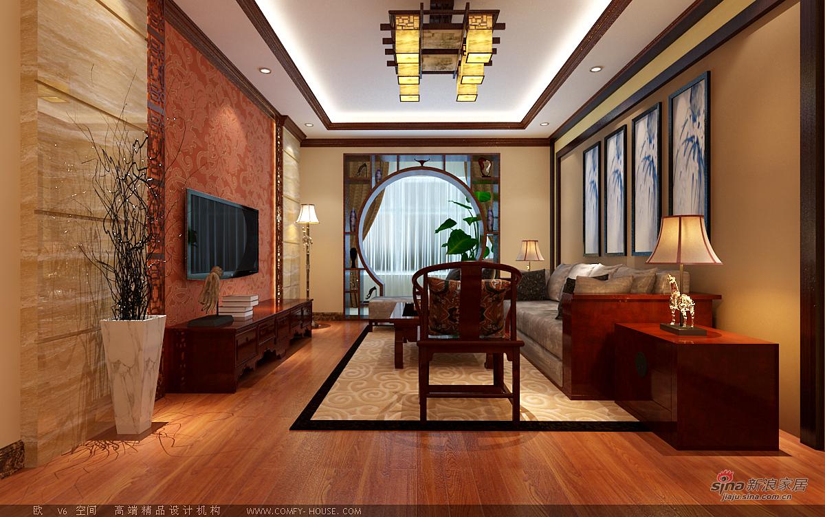 中式 二居 客厅图片来自用户1907662981在97平新中式风格设计60的分享