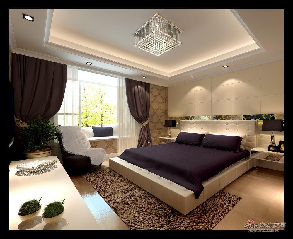 现代 二居 卧室图片来自用户2771250253在芭蕾雨小区设计效果图24的分享