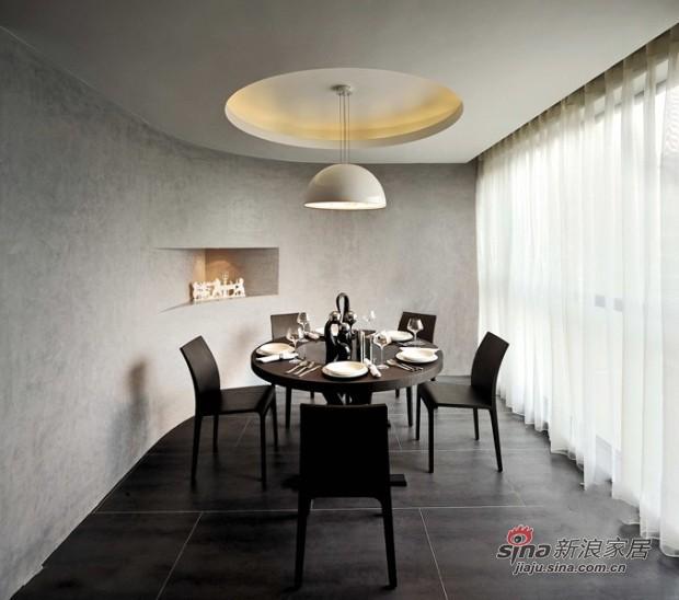 简约 二居 餐厅图片来自佰辰生活装饰在80平黑白灰经典时尚小户型23的分享