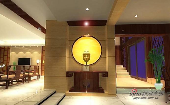 中式 别墅 客厅图片来自用户1907659705在新中式经典家散发魅力别墅58的分享