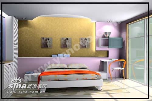 简约 二居 卧室图片来自用户2557979841在卧室设计55的分享