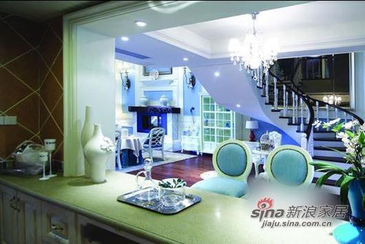 地中海 复式 厨房图片来自用户2757320995在美人鱼的奢华世界 82平方梦幻感蓝色复式家装41的分享