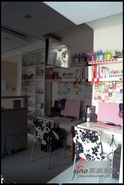 田园 二居 餐厅图片来自用户2737791853在爱美MM自装67平粉嫩童话两居31的分享