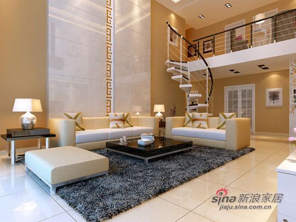 客厅色调上以暖色为主