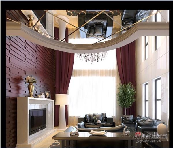 混搭 别墅 客厅图片来自用户1907691673在新中式混搭尊享极品豪宅41的分享