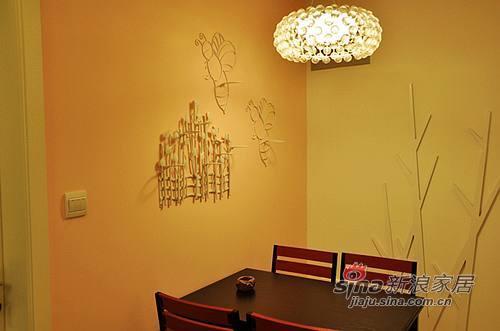混搭 二居 餐厅图片来自用户1907655435在5.8万软硬装87平两室两厅现代时尚美家38的分享
