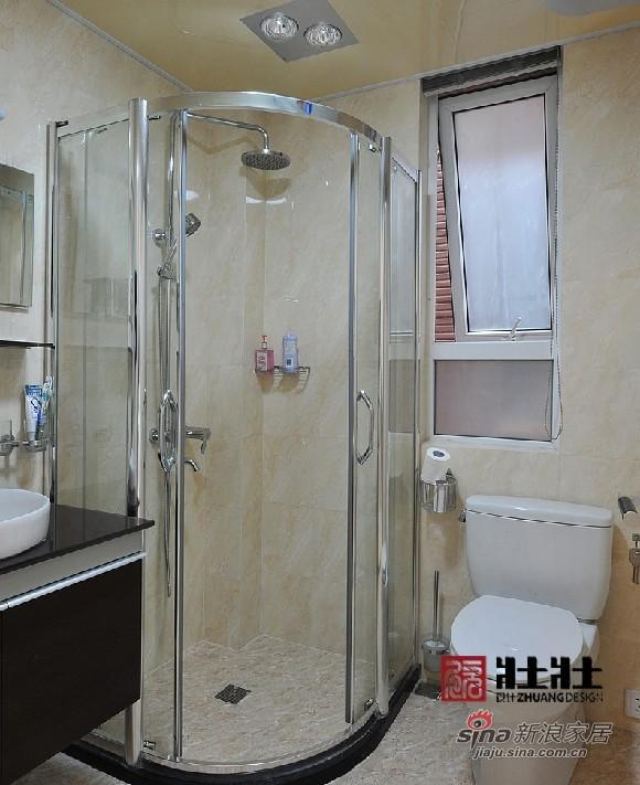 简约 四居 卫生间图片来自用户2738820801在半包160㎡现代简约公寓房16的分享