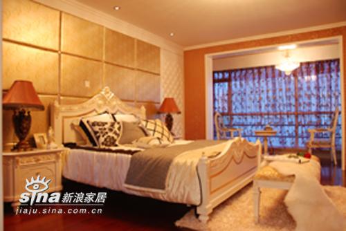 欧式 三居 卧室图片来自用户2746889121在欧式风格样板房(244平米)76的分享