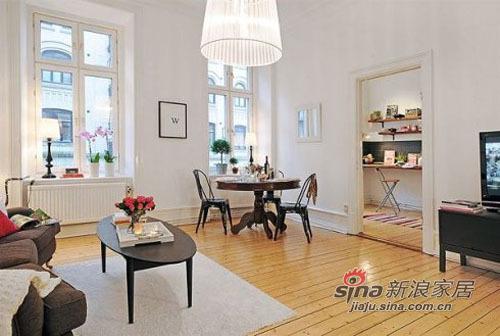 简约 二居 客厅图片来自用户2738093703在58平方的蜗居尽显宜家简洁风66的分享