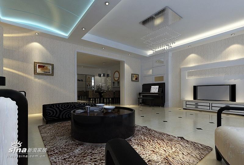 简约 别墅 客厅图片来自用户2559456651在现代简约的褐石别墅设计45的分享