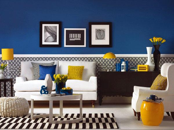 客厅 蓝色 简约图片来自用户2771736967在屌丝变文艺 11款极具文艺时尚气息的客厅的分享
