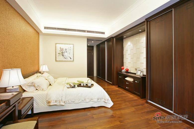 中式 三居 卧室图片来自装修微日记在【高清】178平中式古典主义大气3居46的分享