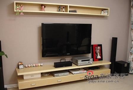 简约 三居 客厅图片来自用户2738845145在12万硬装+7万软装浪漫三室美居49的分享
