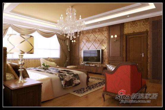 混搭 别墅 卧室图片来自用户1907689327在400㎡别墅的奢侈混搭58的分享