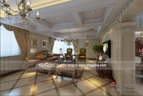 欧式 复式 客厅图片来自用户2772873991在别墅欧式营造奢华氛围18的分享